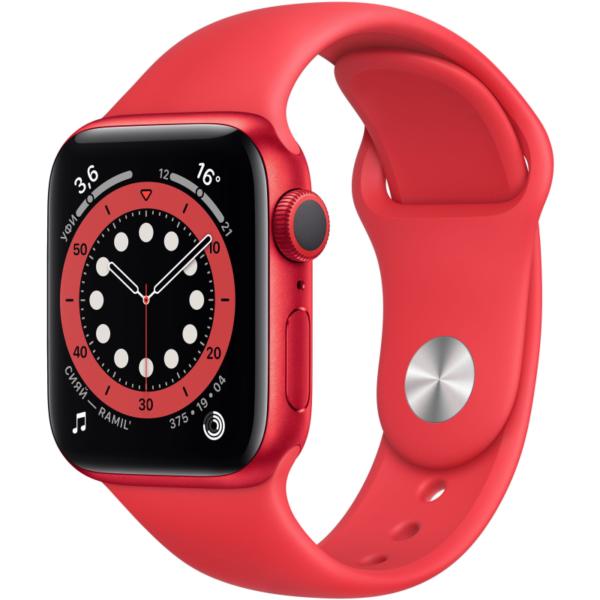 Apple Watch S6 красные