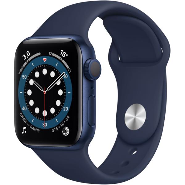 Apple Watch S6 синие