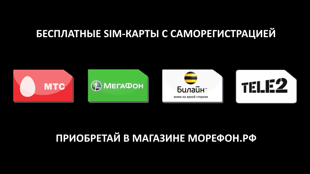 Sim-карты реклама